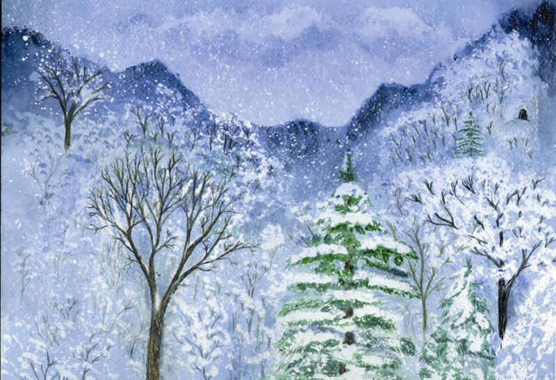 Blue Snow Hills