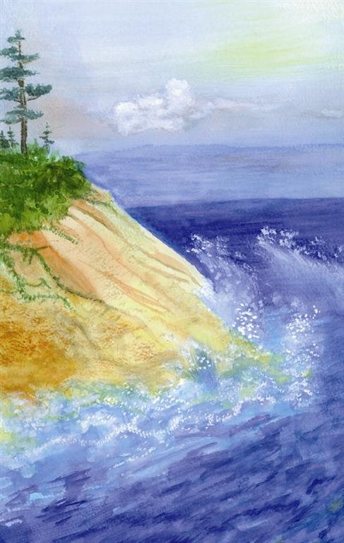 Cliffs at shore
